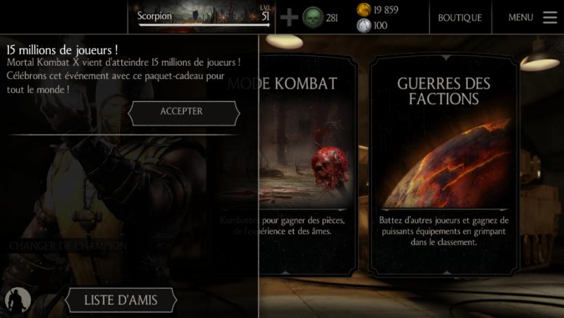 15 millions de joueurs pour Mortal Kombat X !
