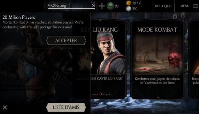 Et de 20 millions de joueurs Mortal Kombat X !