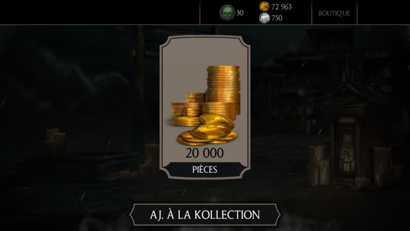30 millions de joueurs Mortal Kombat X : Cadeau 20K pièces