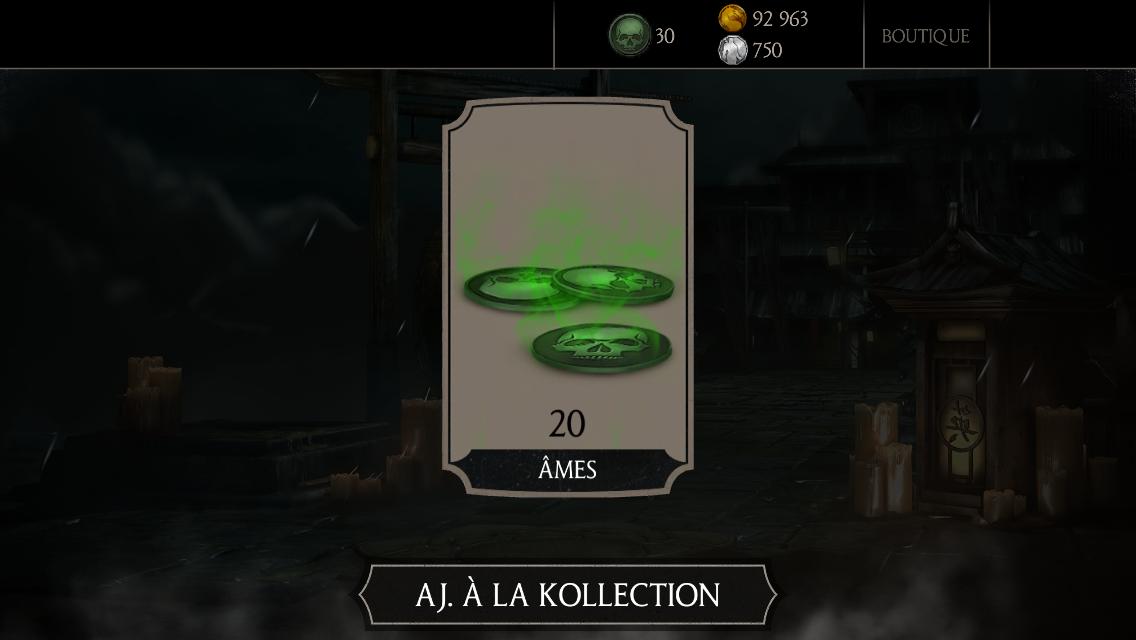 30 millions de joueurs Mortal Kombat X : Cadeau 20 âmes