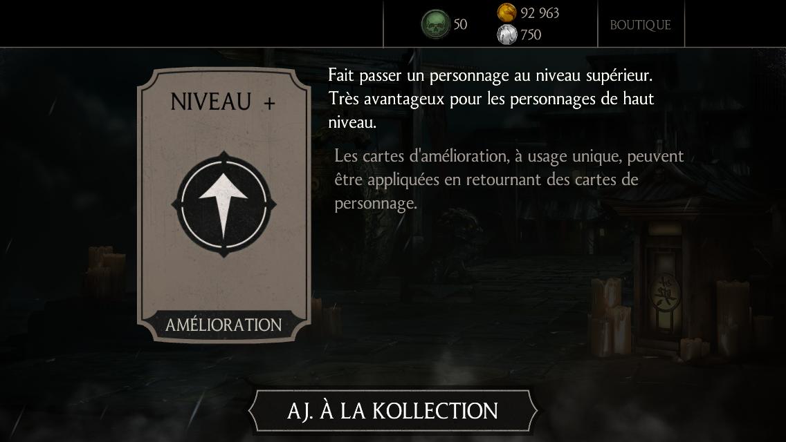 30 millions de joueurs Mortal Kombat X : Cadeau 1 karte Niveau +