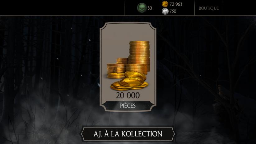 40 millions de joueurs Mortal Kombat X : Cadeau 20K pièces