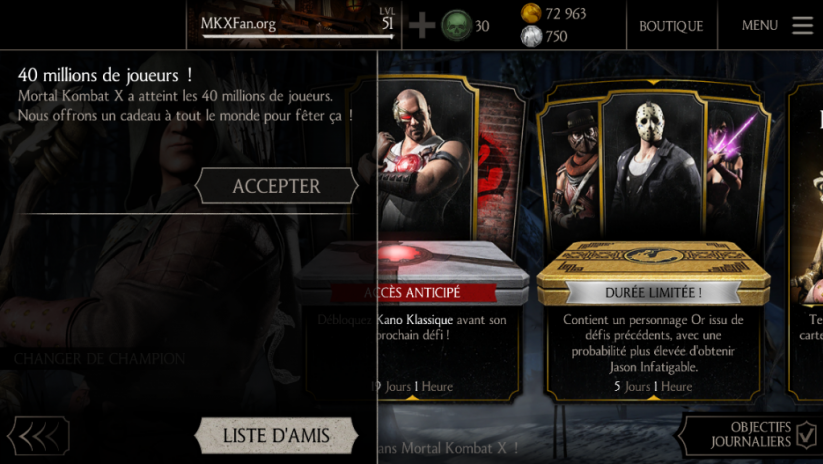 40 millions de joueurs Mortal Kombat X