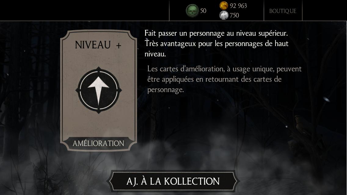 40 millions de joueurs Mortal Kombat X : Cadeau 1 karte Niveau+