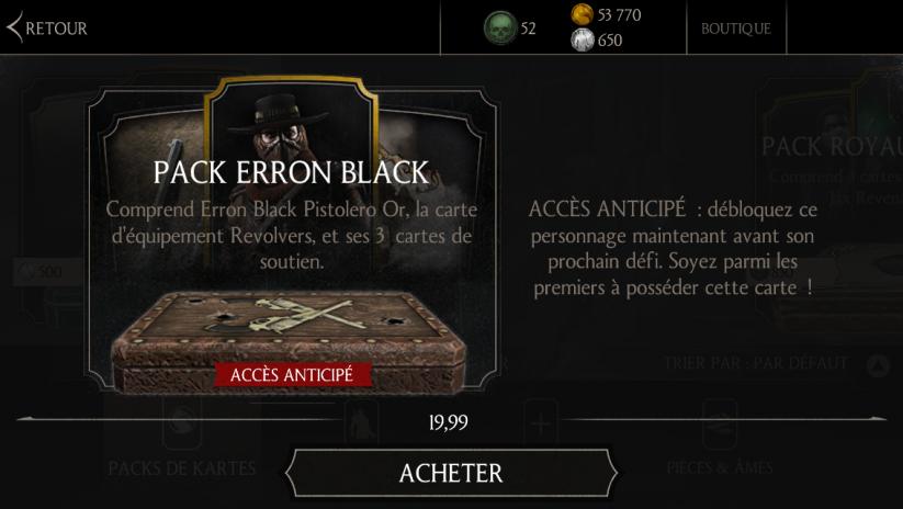 Pack Erron Black Pistolero