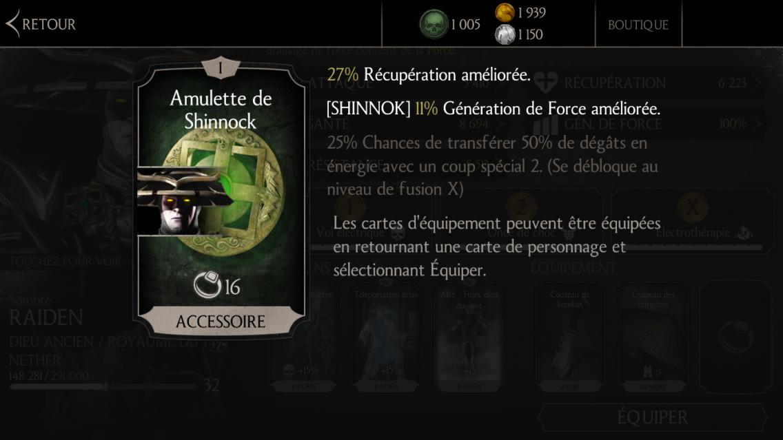 Amulette de Shinnok fusion 1