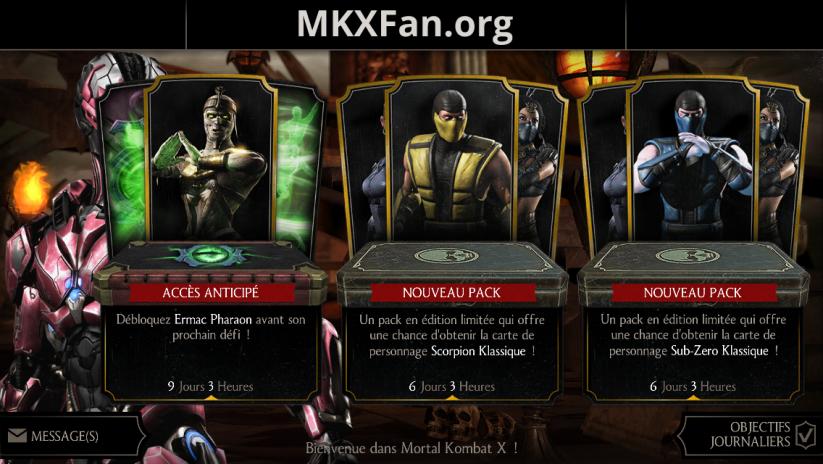 24 ans de Mortal Kombat : packs Scorpion Klassique et Sub-Zero Klassique