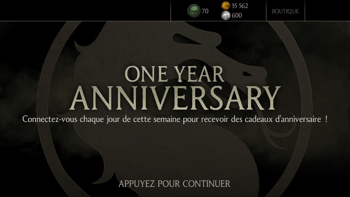 Mortal Kombat X a un an !