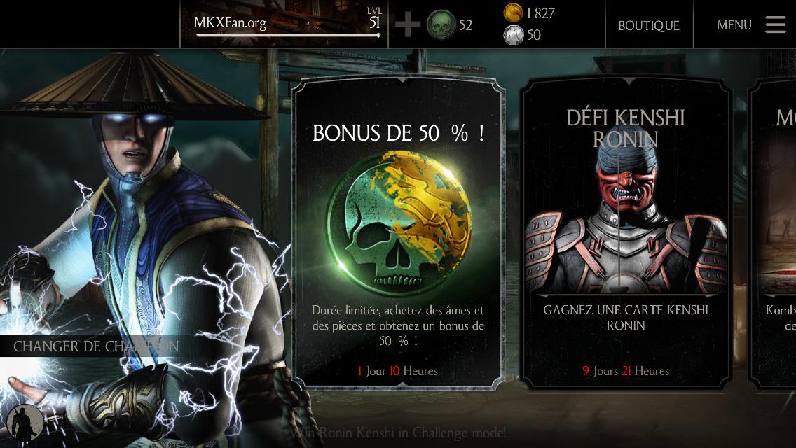 Bonus de 50% !