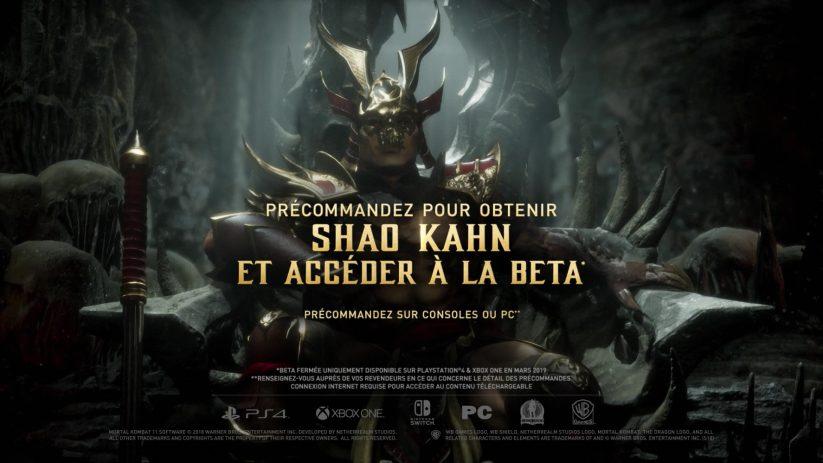 Shao Khan en bonus de précommande pour le jeu Mortal Kombat 11