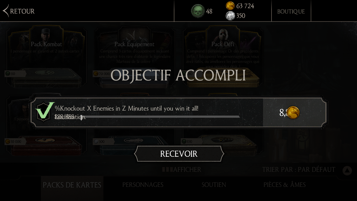 Bug : objectif quotidien impossible