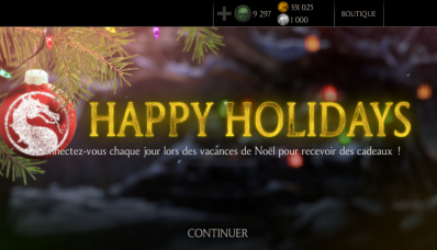 Happy holidays avec MKX