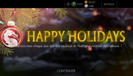 Happy holidays avec MKX