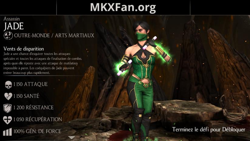 Caractéristiques de Jade Assassin