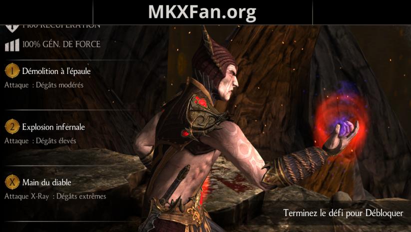 Caractéristiques de Shinnok Vengeur