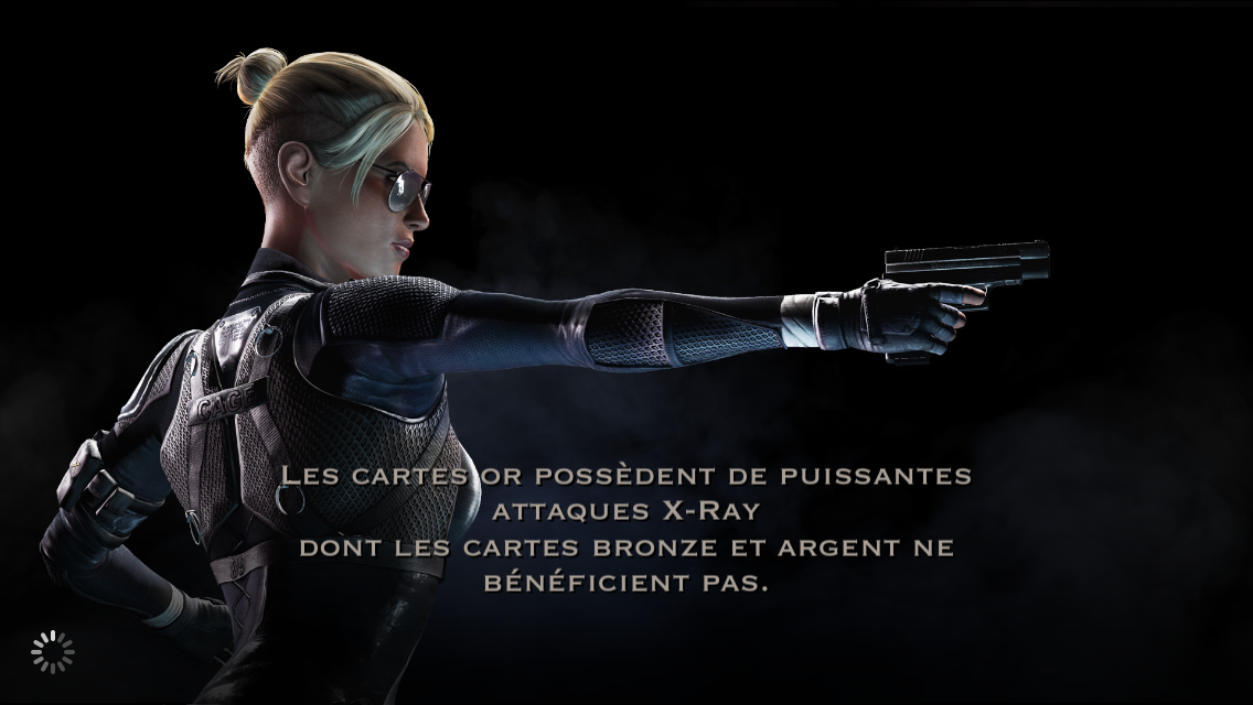 Cartes or et attaque X-Ray : Cassie Cage