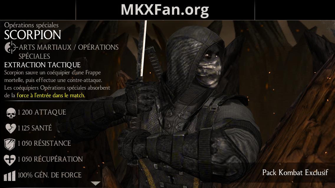 Scorpion Opérations spéciales : caractéristiques