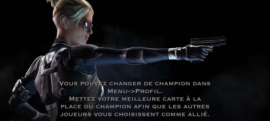 Changement de champion : Cassie Cage
