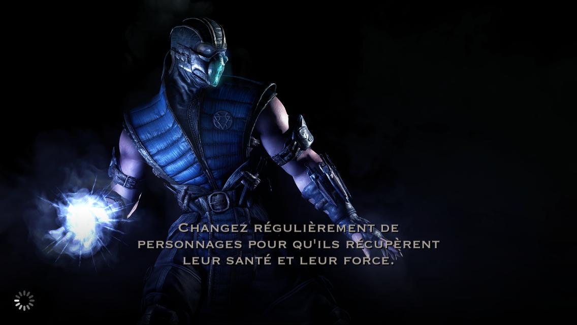 Changement de personnage et récupération : Sub-Zero