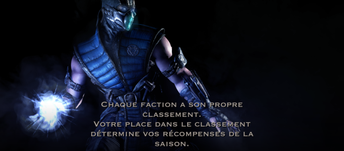 Faction et classement : Sub-Zero