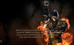 Compte WBPlay et sauvegarde : Scorpion