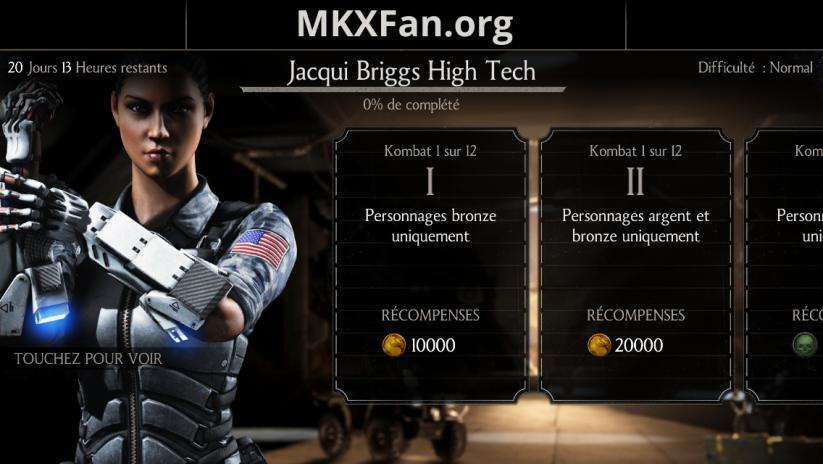 Défi Jacqui Briggs High tech : défi normal