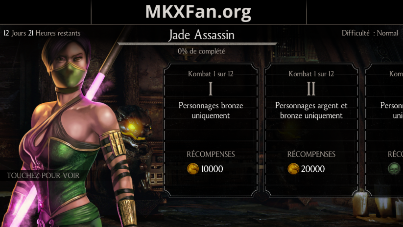 Défi Jade Assassin : mode normal
