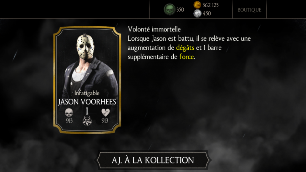 Jason Voorhees Infatigable