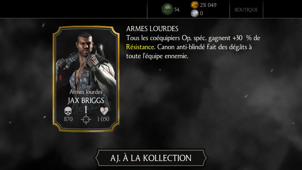 Jax Armes lourdes