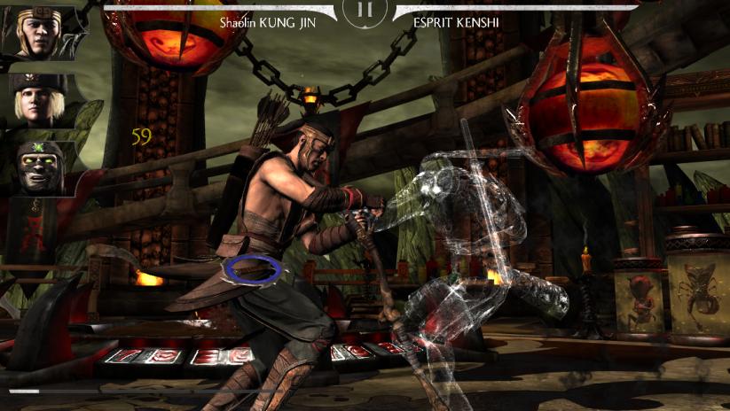 Kombat contre Kenshi Boss : clone d'ombre