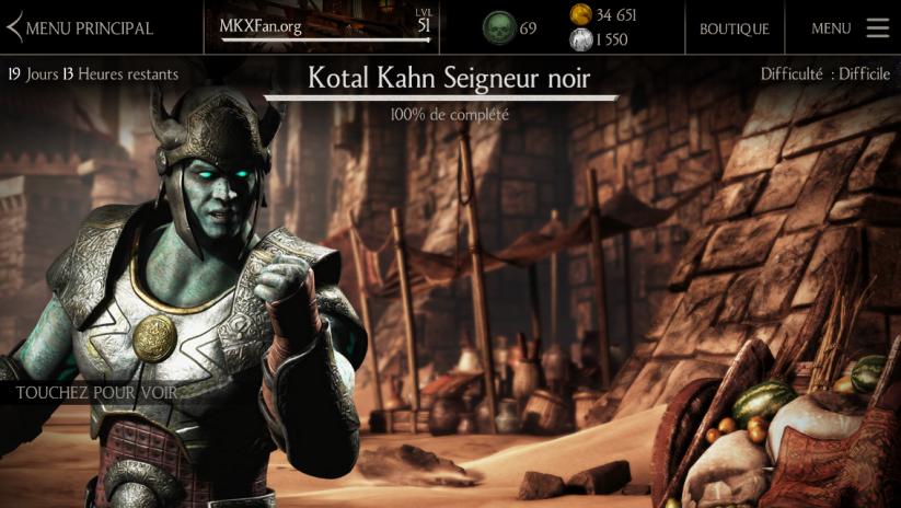 Défi Kotal Kahn Seigneur noir