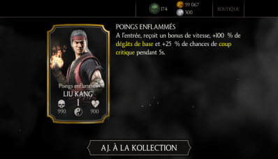 Liu Kang Poings enflammés