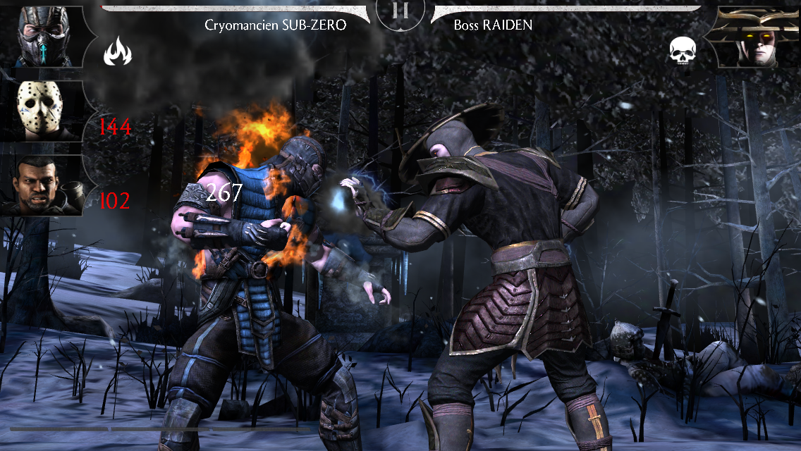 Raiden Sombre mode Normal : kombat contre le boss Raiden
