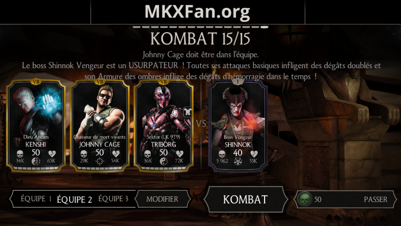Défi normal : boss Shinnok Vengeur