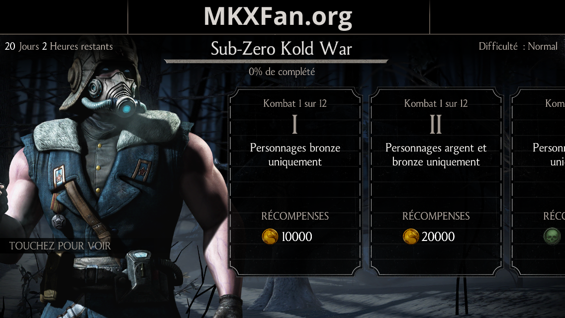 Défi Sub-Zero Kold war : mode normal
