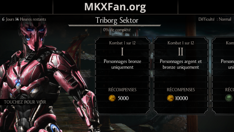 Défi Triborg Sektor (LK-9T9) : mode normal