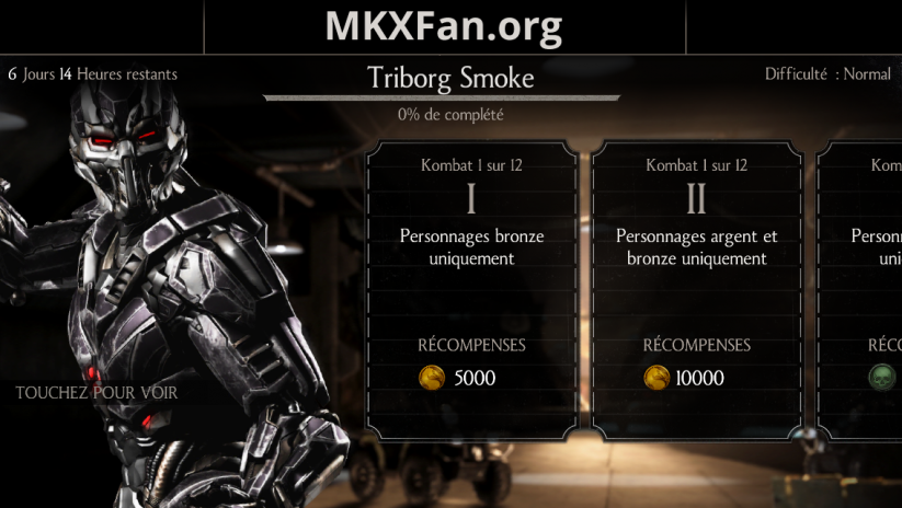 Défi Triborg Smoke (LK-7T2) : mode normal