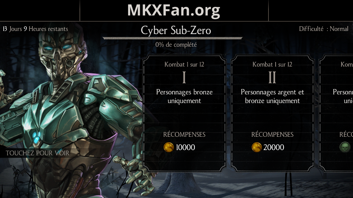 Défi Triborg Cyber Sub-Zero (LK-52O) : mode normal