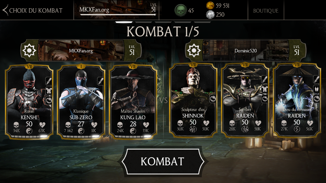 Dominic520, cheater sur MKX Mobile