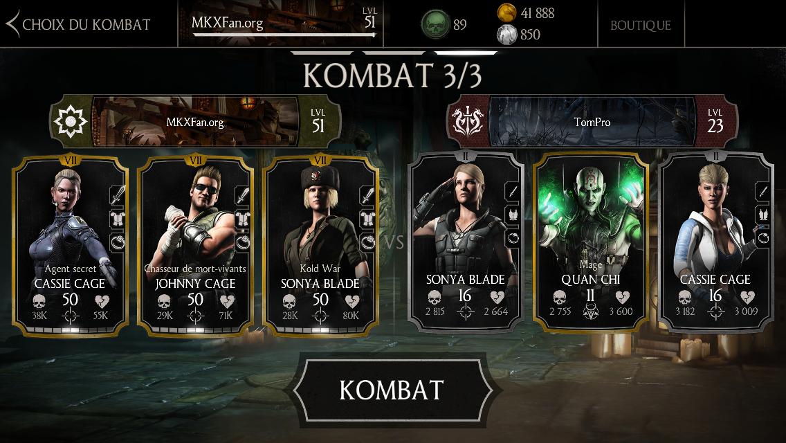 Erreur de matchmaking MKX