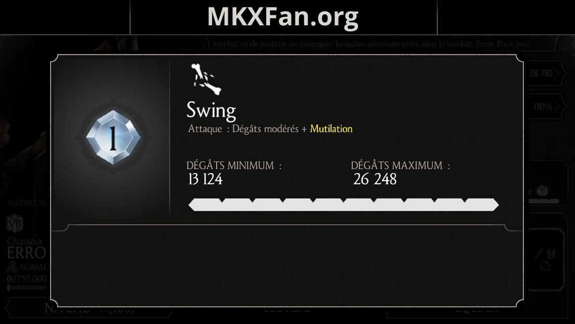 Erron Black Chasseur de primes : attaque 1 Swing