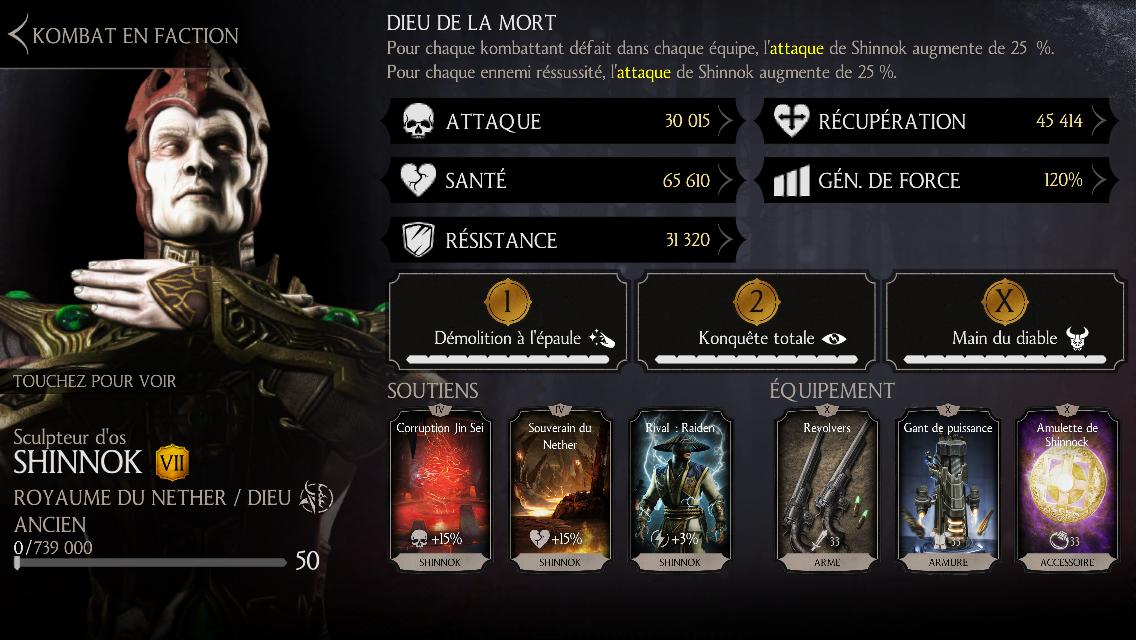 Grutds, cheater MKX :  Shinnok Sculpteur d'os niveau 50 fusion 7