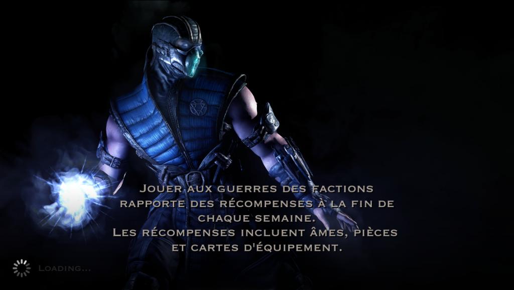 Guerres des factions et récompenses : Sub-Zero
