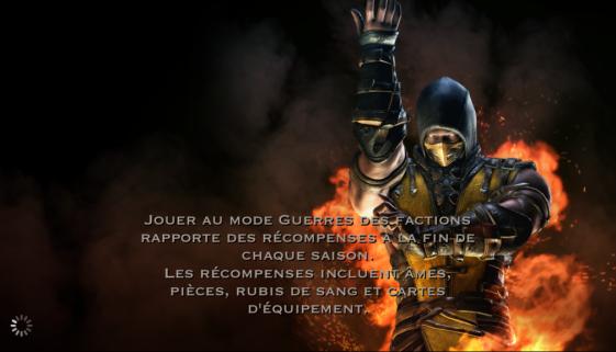 Guerres des factions et récompenses en Rubis de sang : Scorpion