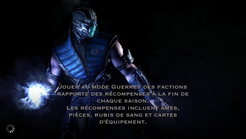 Guerres des factions et récompenses en Rubis de sang : Sub-Zero
