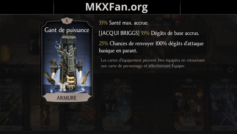 Jacqui Briggs : gant de puissance fusion X