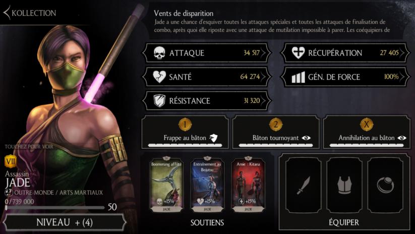 Jade Assassin niveau 50 fusion 7