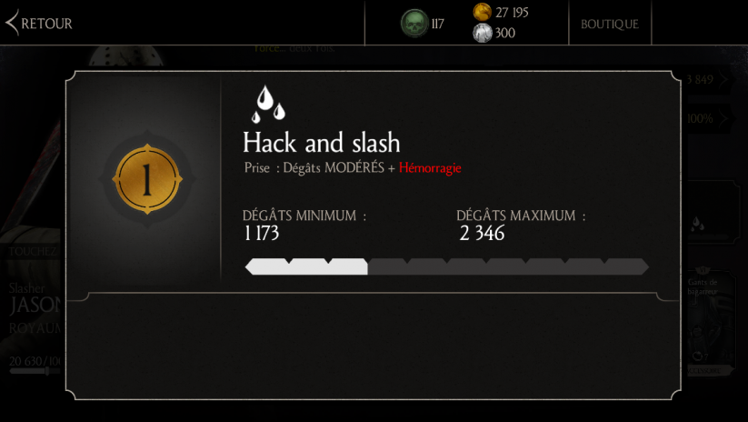 Attaque 1 de Jason Voorhees Slasher : Hack and slash