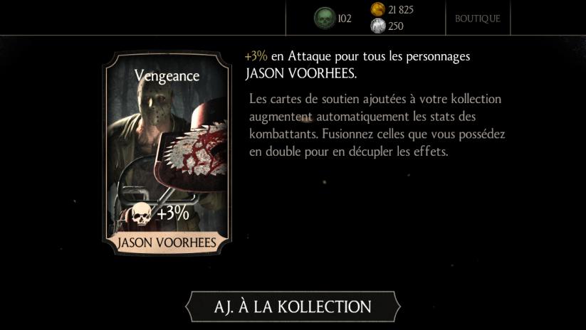 Soutien de Jason Voorhees Slasher en Attaque : Vengeance