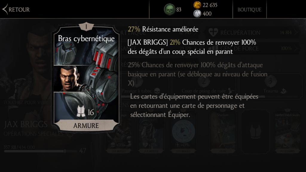 Jax Briggs: Bras cybernétique